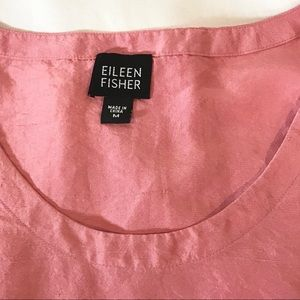 Eileen Fisher Dresses - Eileen Fisher 100% Silk Pink Sleeveless Tank Dress